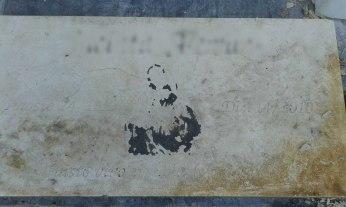 Placa de mármol - Antes
