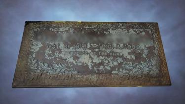 Placa de bronce - Antes